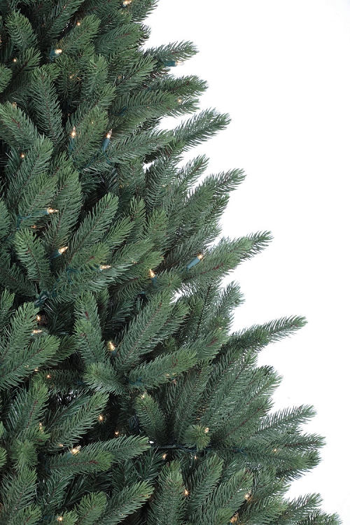 crystal mountain 75ft artificial christmas tree staylit clear lights