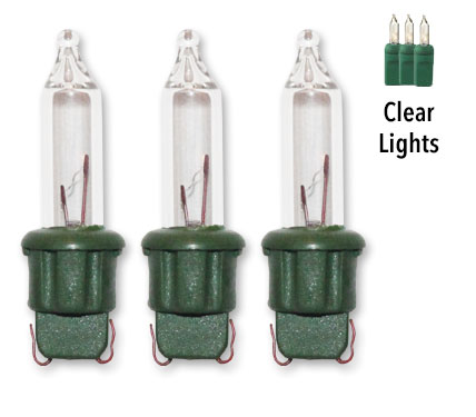 Original-Stay-lit Replacement Clear Christmas Light Bulbs - 100ct 2.5v