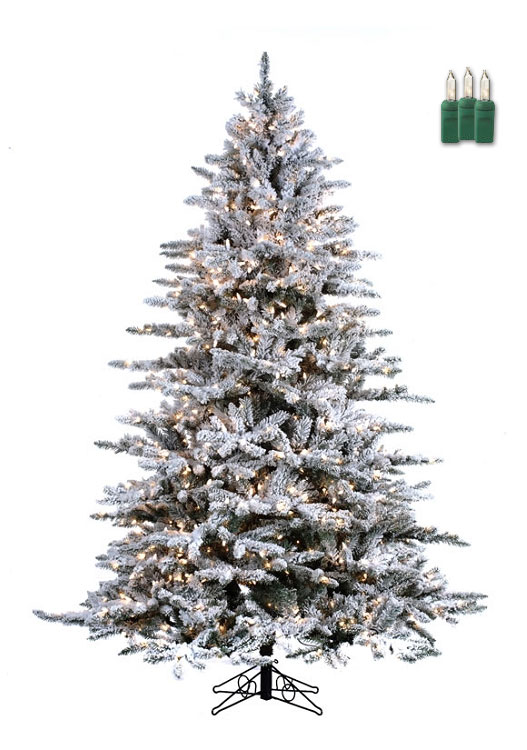Snowy Mountain Pine - 7.5ft Artificial Christmas Tree ...