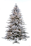 Snowy Mountain Pine - 7.5ft Artificial Christmas Tree - Clear lights