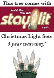 brand new 68853 b17b7 Crystal Mountain - 7.5ft Artificial Christmas Tree - Staylit® Clear lights