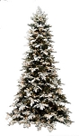 Downswept Snow Drift - 9ft Artificial Christmas Tree - Staylit® Clear lights