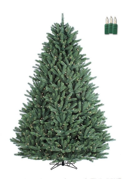 Crystal Mountain - 7.5ft Artificial Christmas Tree - Staylit® Clear lights
