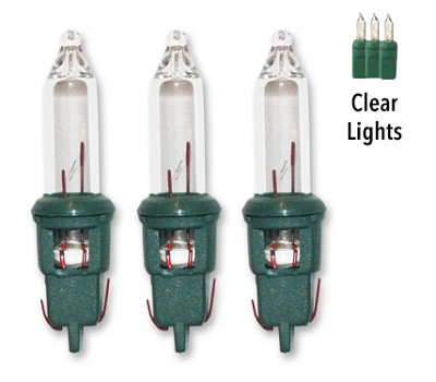 - Window Base Replacement Christmas Clear Light Bulbs - 100ct 2.5v